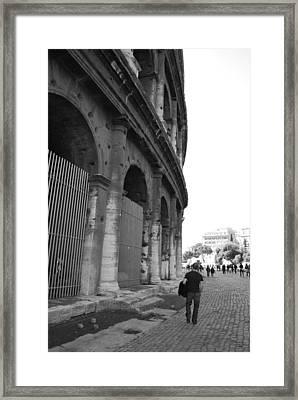 Man Outside Framed Print by Regina Avila