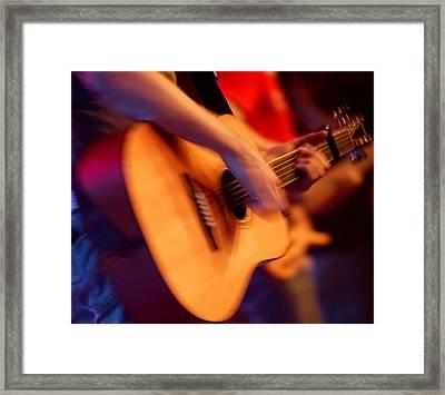 Man Playing Guitar Framed Print