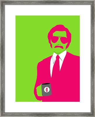 Man Poster Framed Print by Naxart Studio
