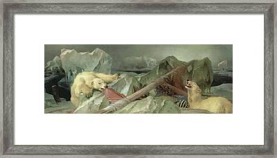Man Proposes, God Disposes, 1864 Framed Print by Sir Edwin Landseer