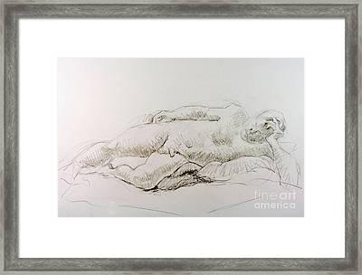 Man Reclining  Framed Print by Andy Gordon