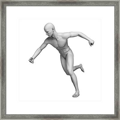 Man Running Framed Print