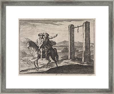 Man Saved By His Guardian Angel Of The Gallows Framed Print