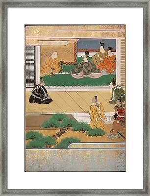 Man Sitting On A Verandah Framed Print by British Library