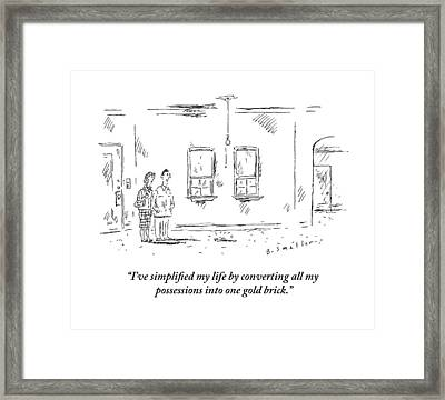 Man Speaking To Woman In An Apartment That Framed Print