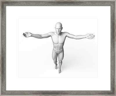 Man Standing With Arms Out Framed Print