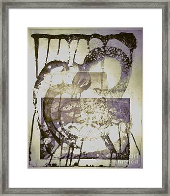 Man Step Framed Print