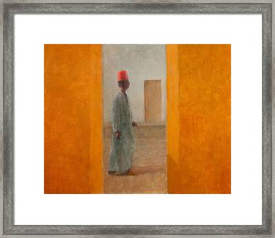Man, Tangier Street, 2012 Acrylic On Canvas Framed Print by Lincoln Seligman