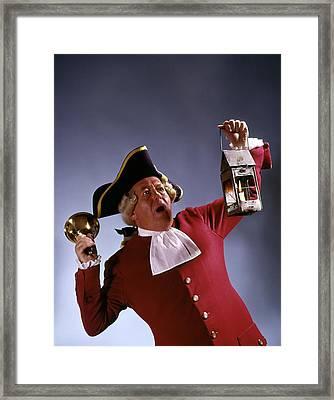 Man Town Crier 18th Century Colonial Framed Print