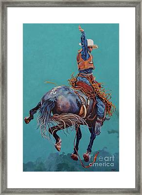 Man Up Framed Print
