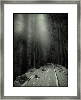 Man Verses Green Framed Print