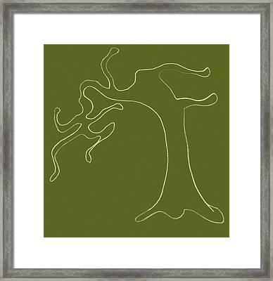 Man Versus Nature Framed Print by Michelle Calkins