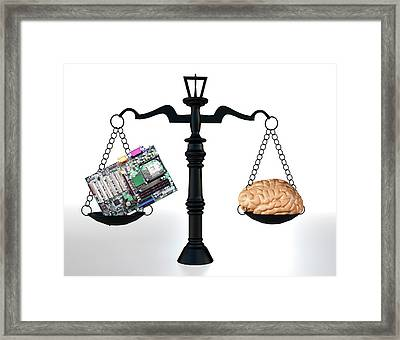 Man Vs Machine Framed Print by Christian Darkin