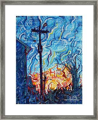 Man Vs. Nature Framed Print by Michael Ciccotello