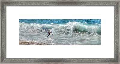 Man Vs Wave Framed Print