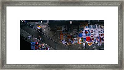 Man Walking Upstairs From Post Alley Framed Print