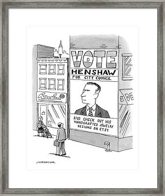 Vote Henshaw Framed Print