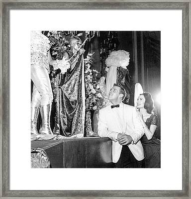 Man Wearing A Suit By Costume Winners Framed Print by Richard Waite
