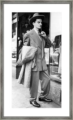 Man Wearing A Zoot-suit Framed Print