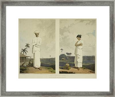 Man Wearing Turban Framed Print by British Library