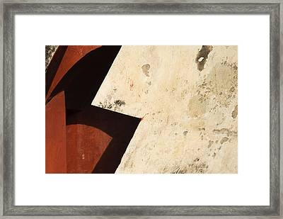 Man With A Cape Framed Print