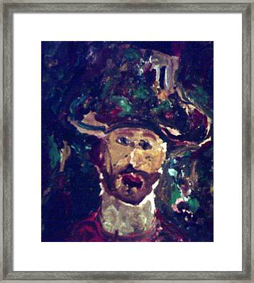 Man With A Hat Framed Print
