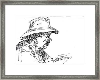 Man With A Hat Framed Print by Ylli Haruni