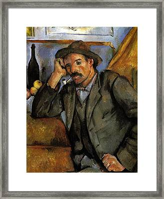 Man With A Pipe Framed Print by Paul Cezanne
