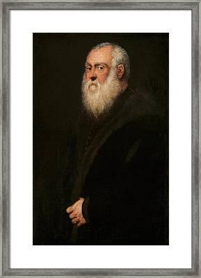 Man With A White Beard Framed Print