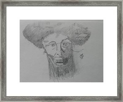 Framed Print featuring the drawing Man With An Afro by AJ Brown