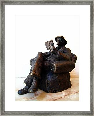 Man With Book Framed Print by Nikola Litchkov