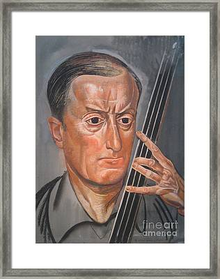 Man With Cello Framed Print by Celestial Images