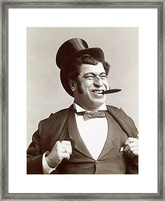 Man With Cigar, C1895 Framed Print