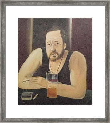 Man With Cigarette. Framed Print by Blanka Kucejova