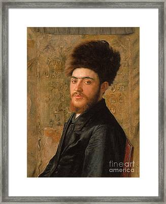 Man With Fur Hat Framed Print by Celestial Images
