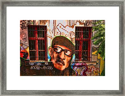 Man With Glasses Framed Print by Graham Hawcroft pixsellpix