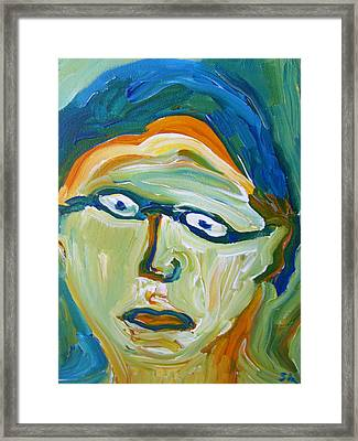 Man With Glasses Framed Print