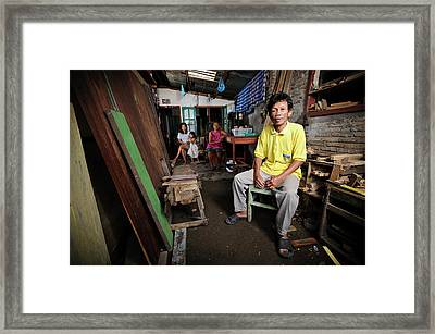 Man With Leprosy Framed Print by Matthew Oldfield