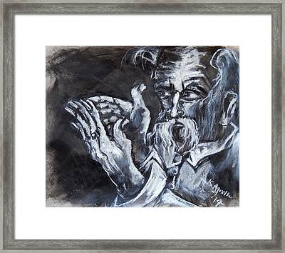 Man With Messianic Hands Framed Print by Kenneth Agnello