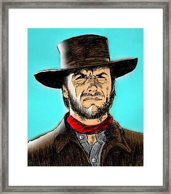Framed Print featuring the mixed media Clint Eastwood by Salman Ravish
