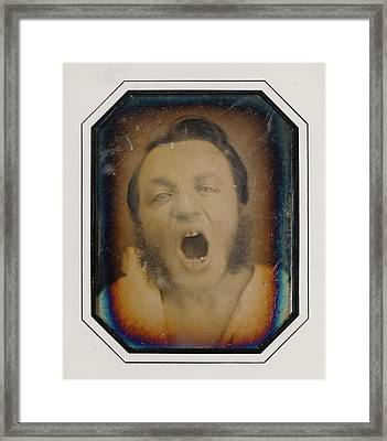 Man With Open Mouth Unknown Maker, French About 1852 Framed Print by Litz Collection