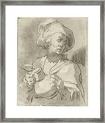 Man With Pitcher, Anthonie Van Den Bos, Abraham Bloemaert Framed Print by Artokoloro