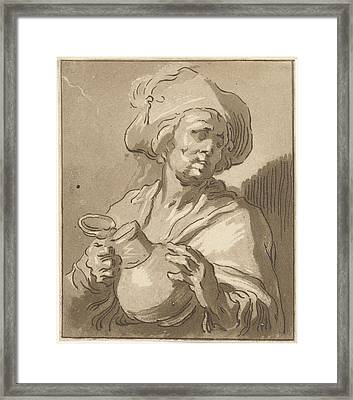 Man With Pitcher, Hermanus Fock Framed Print by Artokoloro