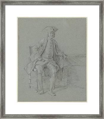 Man With Stitch, With Long Pipe In His Right Hand Framed Print