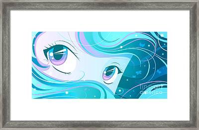 Aqua Framed Print by Sandra Hoefer