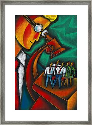 Evaluation Framed Print by Leon Zernitsky