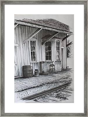 Manahawkin Train Station II Framed Print by Martin Way