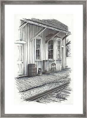 Manahawkin Train Station Framed Print by Martin Way