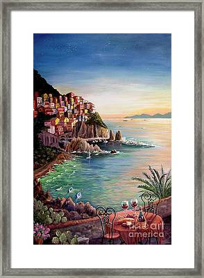 Manarola-cinque Terre-italy Framed Print by Marilyn Smith