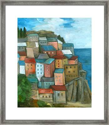 Manarola Cinque Terre Framed Print by Trish Toro